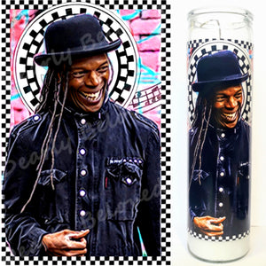 "St. Ranking Roger, 8"" glass jar votive, Our Leader of Ska"