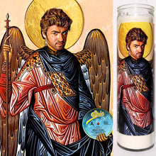 "St. George Michael, 8"" glass jar votive, The Archangel of Faith"