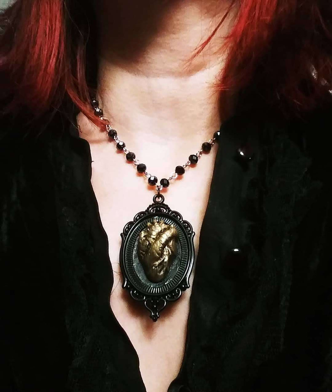 Anatomical Heart of Gold Gothic Style, 16