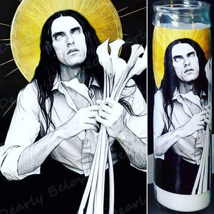 "St. Peter Steele Goth Candle, 8"" glass jar votive, The Dark Seductor"
