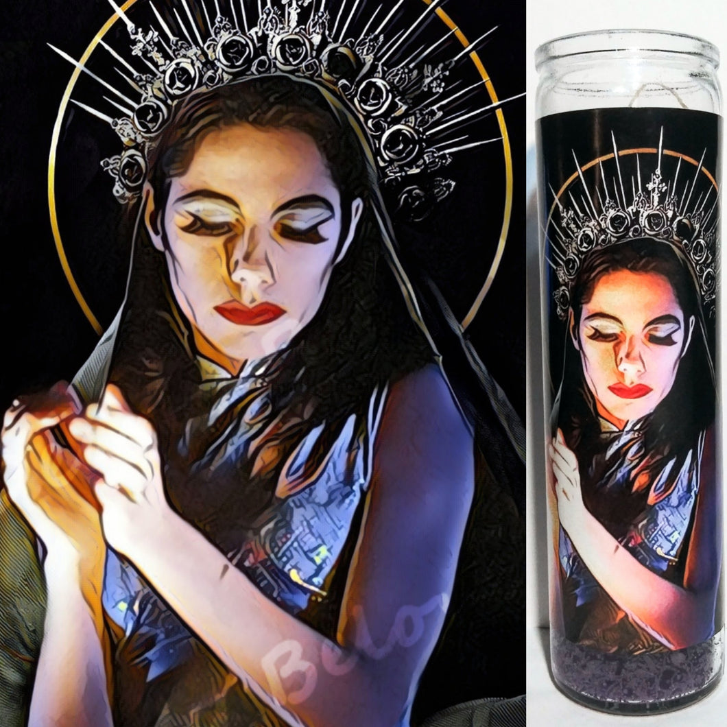 St PJ Harvey prayer candle, 8