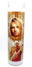 "St. Kurt Cobain Candle, 8"" glass jar votive, Saint of Teen Spirit"