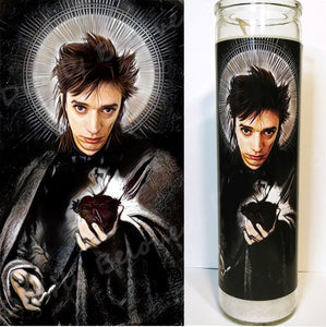 "Saint Blixa of the Bad Seeds, Devotional Candle, 8"" glass jar votive, Meister des Experiments, industrial, goth, post-punk legend"