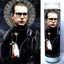 "Fletch, Andrew Fletcher, Depeche Mode Prayer Candle, 8"" glass Jar votive"