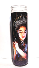 "St PJ Harvey prayer candle, 8"" glass jar votive, 50 ft Queenie of the Sirens"