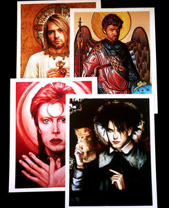 Pop Culture ART PRINTS, Musical Icons, Saints and Sinners of Rock n Roll