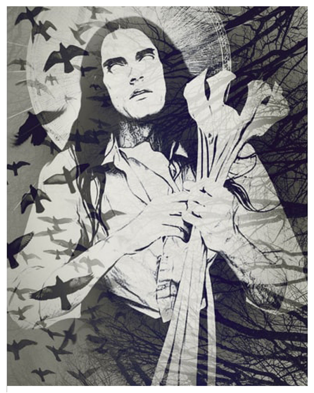 St. Peter Steele Goth Candle, 8