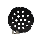 Aluminum End Cap with 18 Holes (4″ Series)