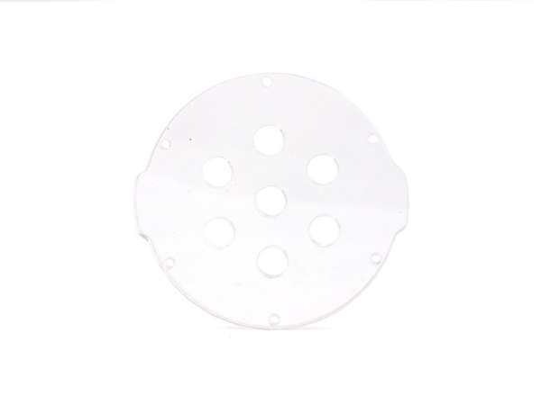 "Clear Acrylic Endcap with 7 Holes (3"" Series)"
