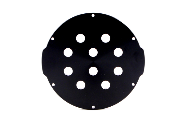 "Aluminium Endcap with 10 Holes (4"" Series)"