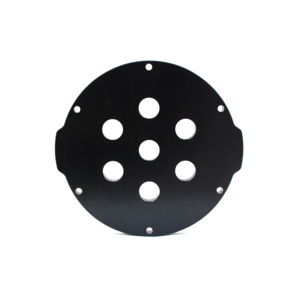 "Aluminium Endcap with 7 Holes(3"" Series)"