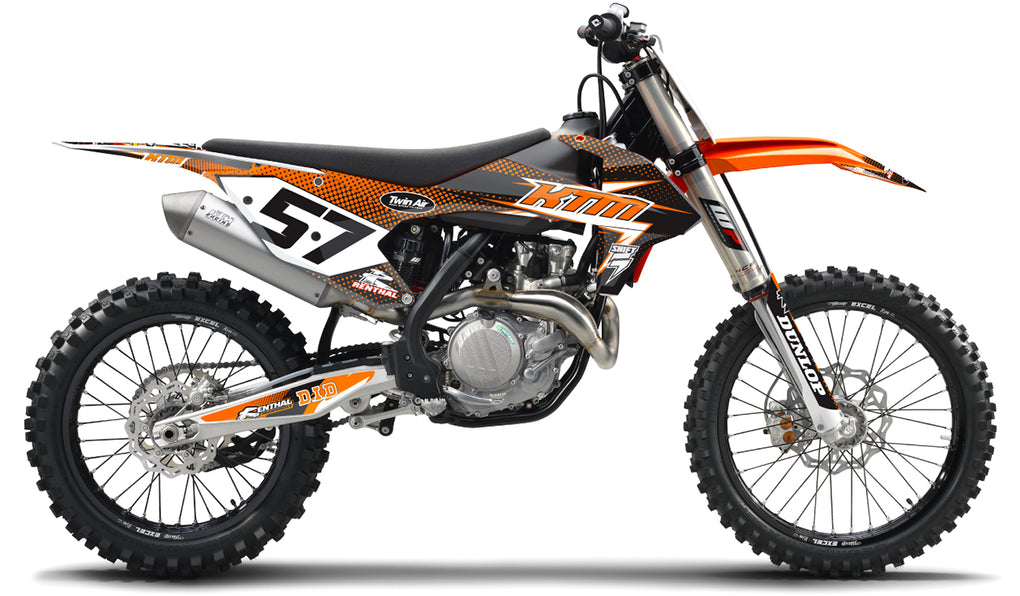 LIGHTNING: BLACK / ORANGE KTM Graphics kit