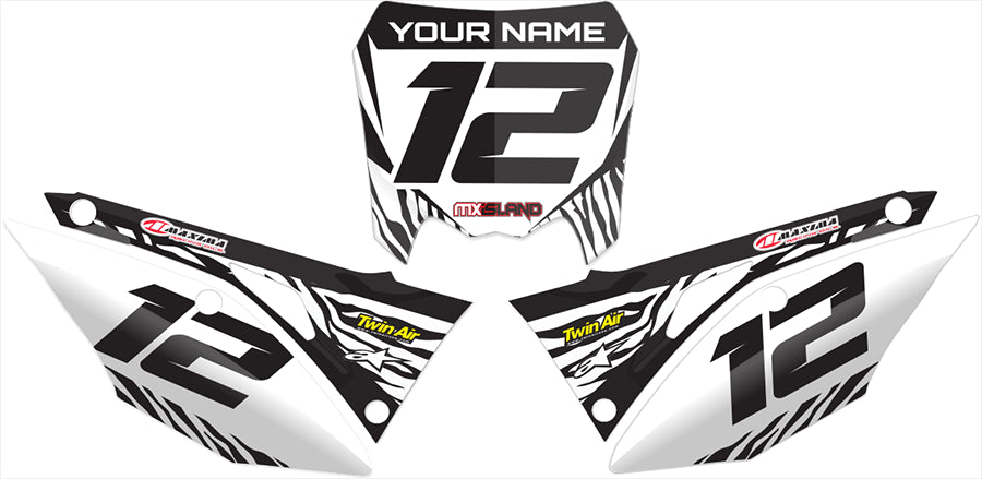 honda number plates in beast mode, graphic kit