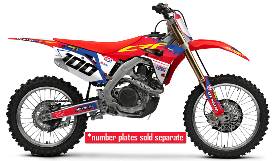 honda factory red blue complete graphics kit