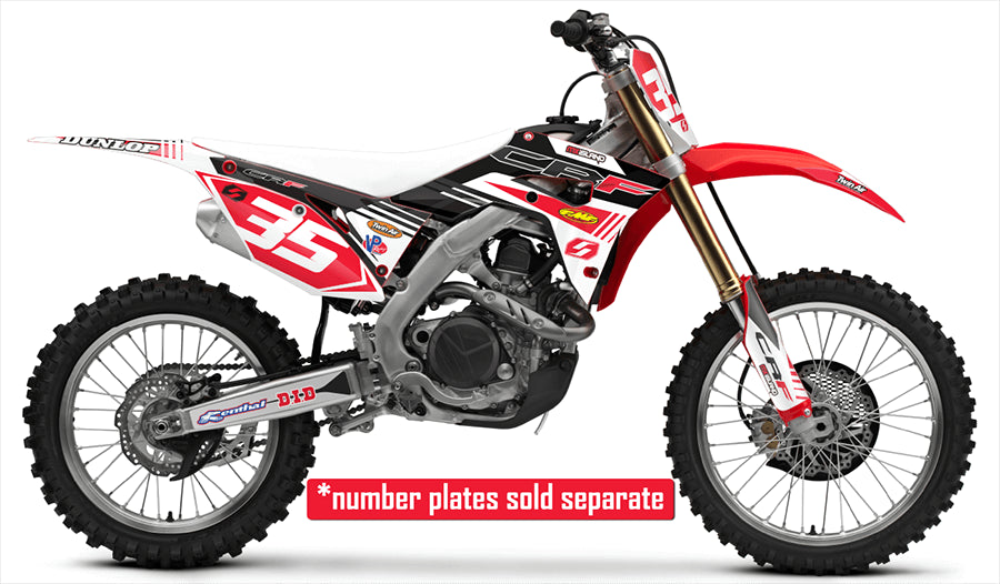S-ONE: RED / WHITE Graphics Kit