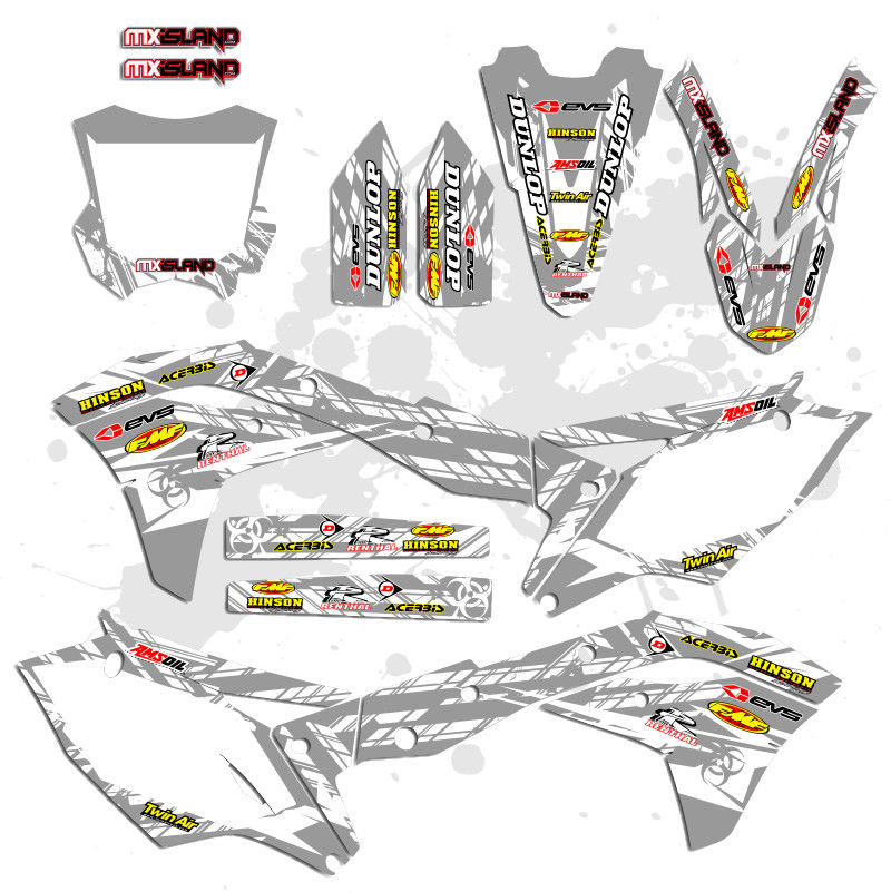 ISLAND STRIKE: WHITE / GREY Graphics Kit
