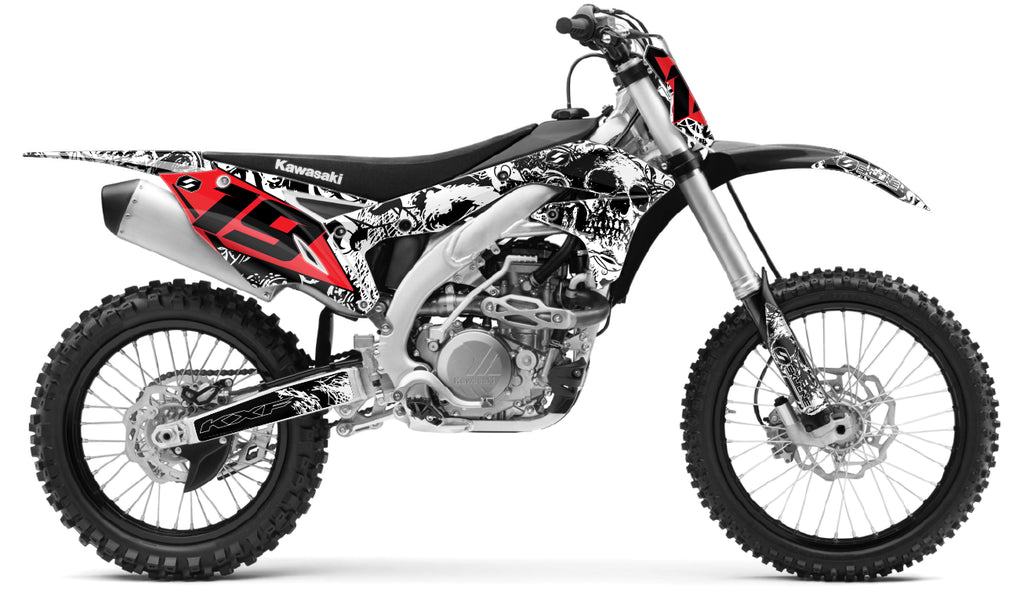 husqvarna complete graphics kit in bonecrusher design
