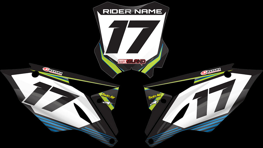 RIDGELINE: GREEN / BLUE Graphics kit