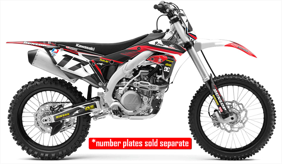 RIDGELINE: BLACK / RED Graphics Kit