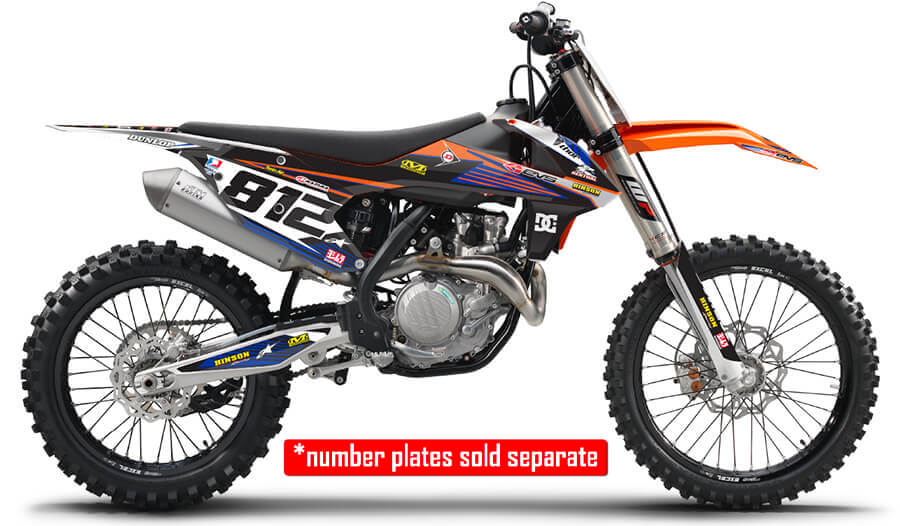 RIDGELINE : BLUE / ORANGE Graphics kit