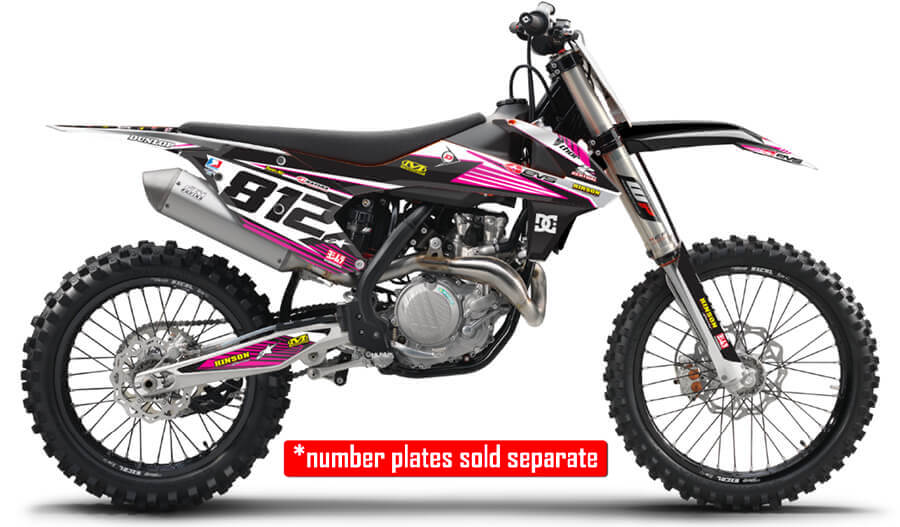 RIDGELINE : MAGENTA / WHITE Graphics kit