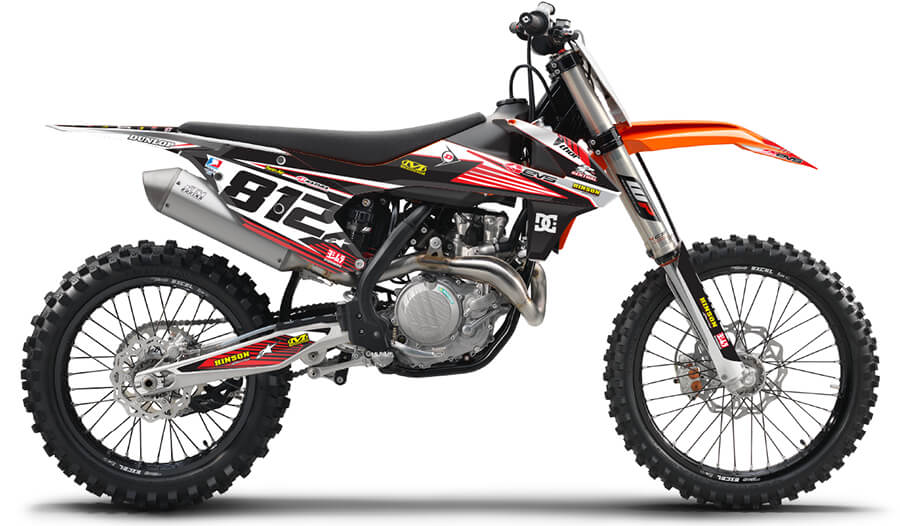 RIDGELINE: RED / WHITE KTM Graphics kit