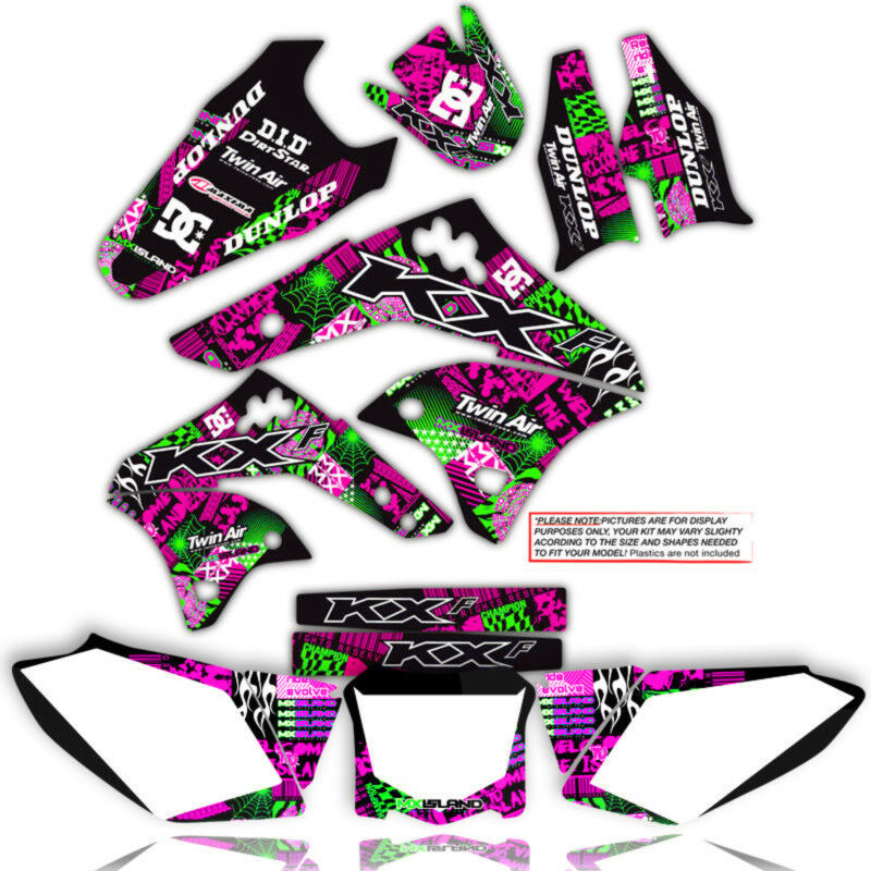 NIGHT RIDER: MAGENTA / GREEN Graphics Kit