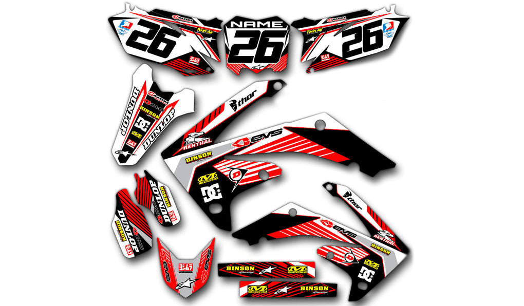 RIDGELINE: RED / WHITE Graphics kit