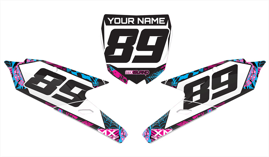 NIGHT RIDER: MAGENTA / CYAN Graphics kit