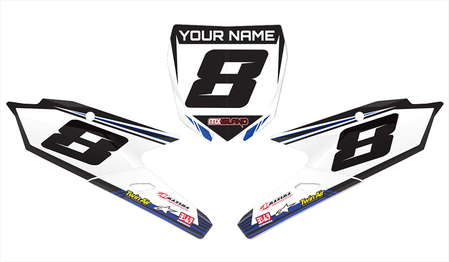 front number plates, decals, graphics, motocross
