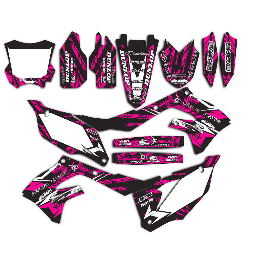 ISLAND STRIKE: MAGENTA / BLACK Graphics Kit