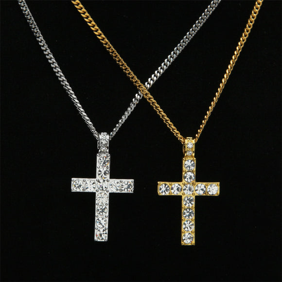 Frozen CZ Diamond Jesus Piece Pendant