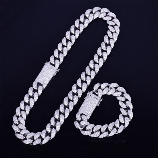 Heavy Hitter Miami  20 mm Cuban Link Chain & Bracelet Set