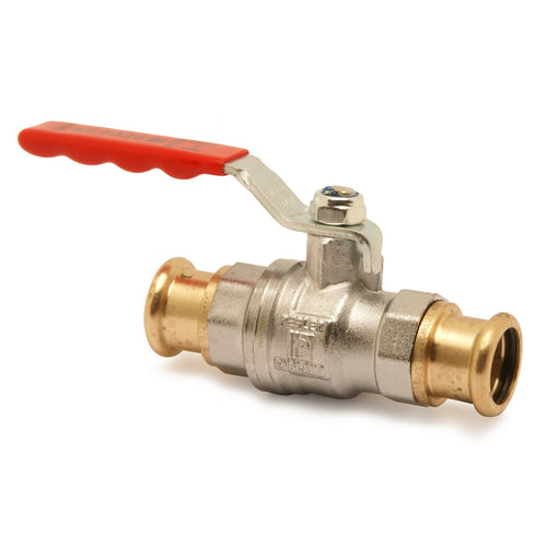 Xpress BRASS BALL VALVE - Red Handle - Trade Angel
