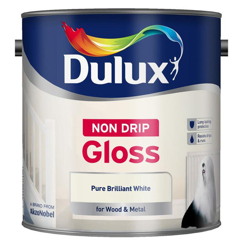 Dulux Retail Gloss Non-Drip Pure Brilliant White