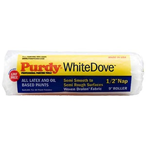 "Purdy - White Dove Sleeve (1-1/2"" Core, 9"" > 18"" Width) - Trade Angel"