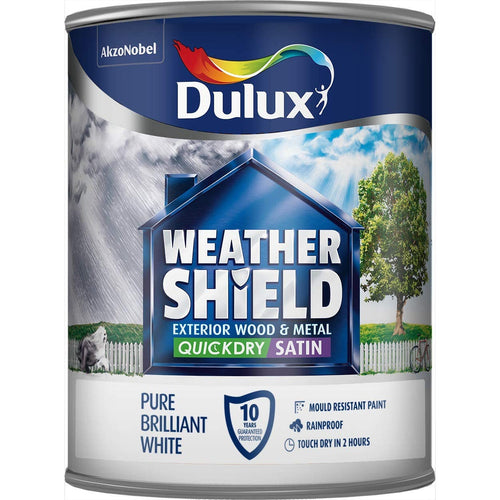 Dulux Retail Weathershield Exterior Quick Dry Satin - 750ml