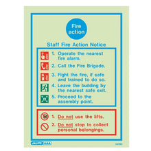 Load image into Gallery viewer, A Range of Photoluminescent Fire Action Safety Signage - Trade Angel