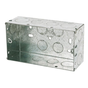 Appleby Galvanised Metal Double Back Boxes - Trade Angel