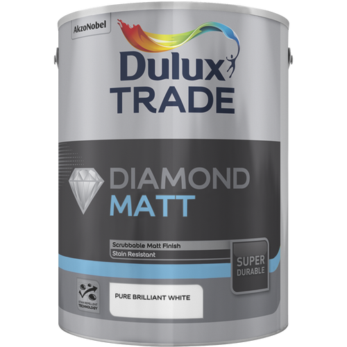 Dulux Trade Diamond Matt  - White - Trade Angel