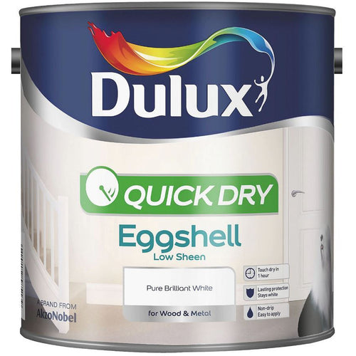 Dulux Retail Quick Dry Eggshell - Pure Brilliant White