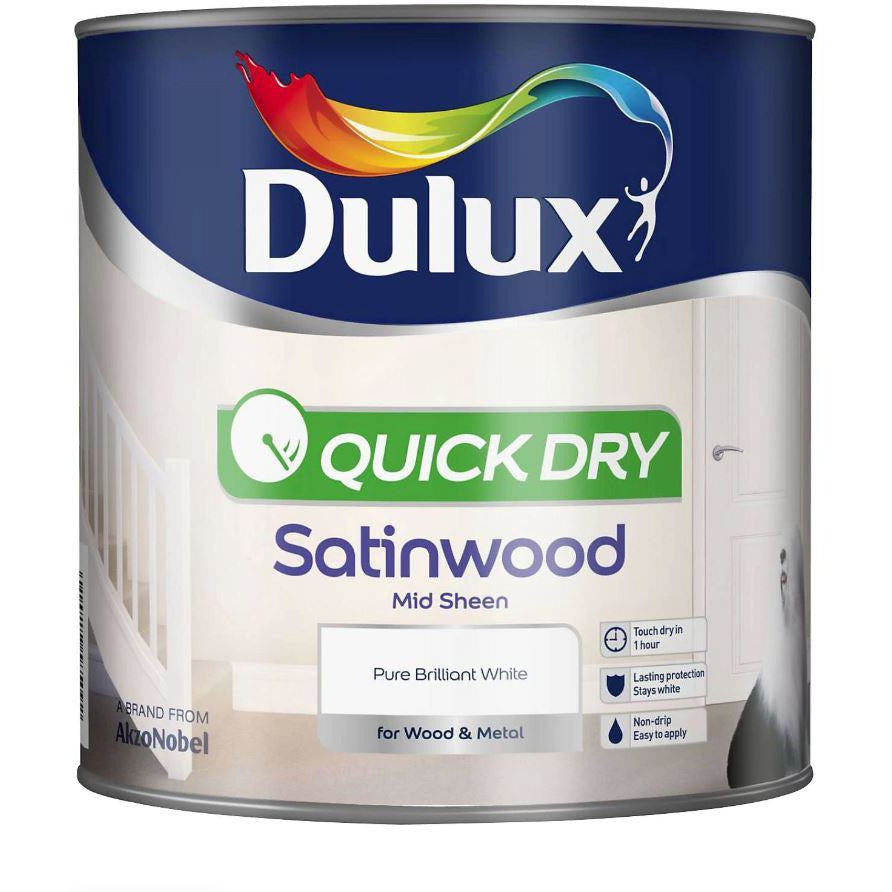 Dulux Retail Quick Dry Satinwood - Pure Brilliant White