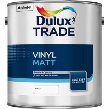 Dulux Trade Vinyl Matt - White 2.5 & 5l