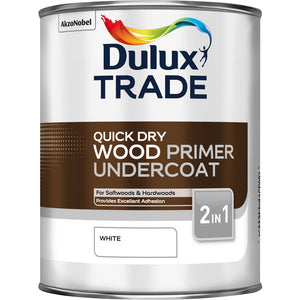 Dulux Wood Primer Undercoat White - Trade Angel
