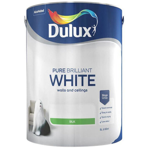 Dulux Retail for Wall and Ceilings - Pure Brilliant White Silk 5l