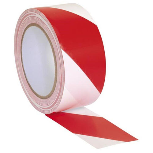 Adhesive Hazard Tape Red and White - Trade Angel - warning tape red and white, red and white hazard tape, red white warning tape