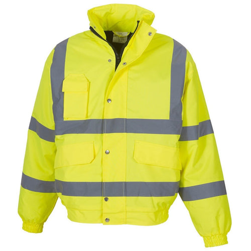 High Visibility Classic Yellow Bomber Jacket - Trade Angel
