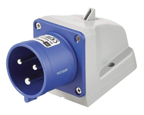 240v 32 Amp 3 Pin MK Commando Plug - Blue - IP44