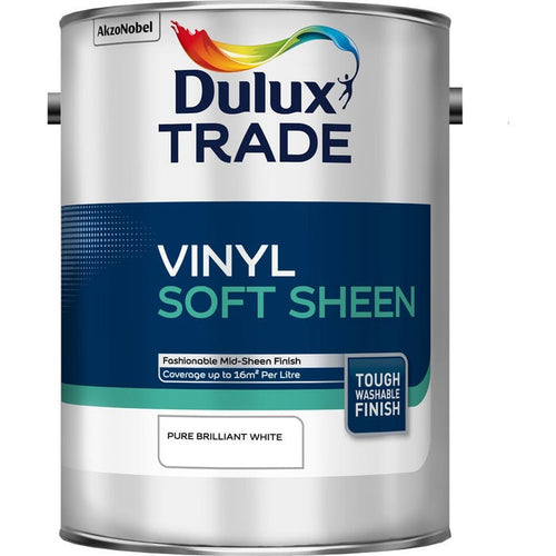 Dulux Trade Vinyl Soft Sheen - Pure Brilliant White 5L
