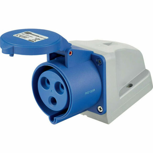 240v 16 Amp 3 Pin MK Commando Socket - Blue - IP44
